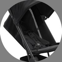 Спинка сиденья с поддержкой спины ребенка (не прогибается) - запатентованная технология Joolz