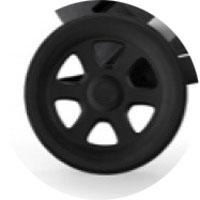Задние колеса большего диаметра