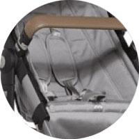 ремни безопасности с центральным замком и мягкими накладками